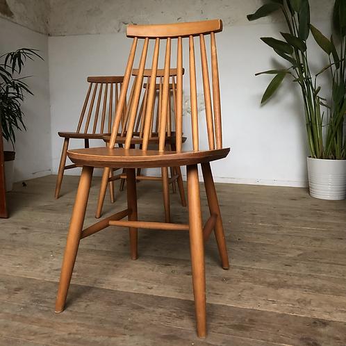 Chaises vintage à barreaux style  Tapiovaara - lot de 4