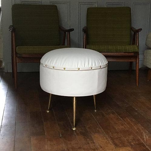 Tabouret vintage -  Pouf vintage - tabouret coffre table basse