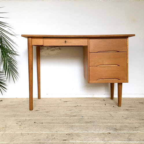 Bureau en chêne vintage  style scandinave