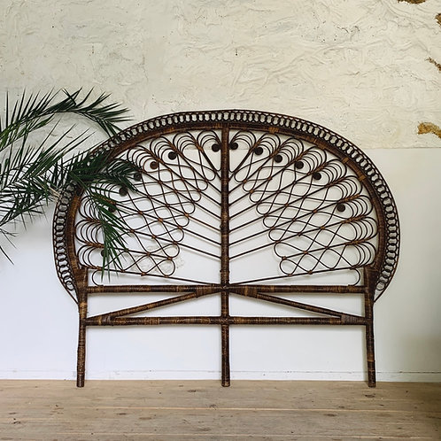 Tête de Lit  rotin peacock vintage 180 cm