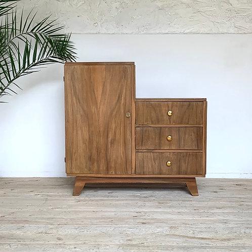 Commode armoire vintage asymétrique
