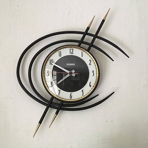 Horloge mural vintage forme libre ORTF