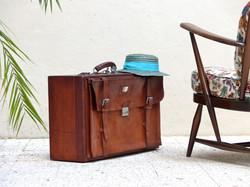 valise cuir vintage 1