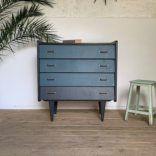 Commode vintage bleu