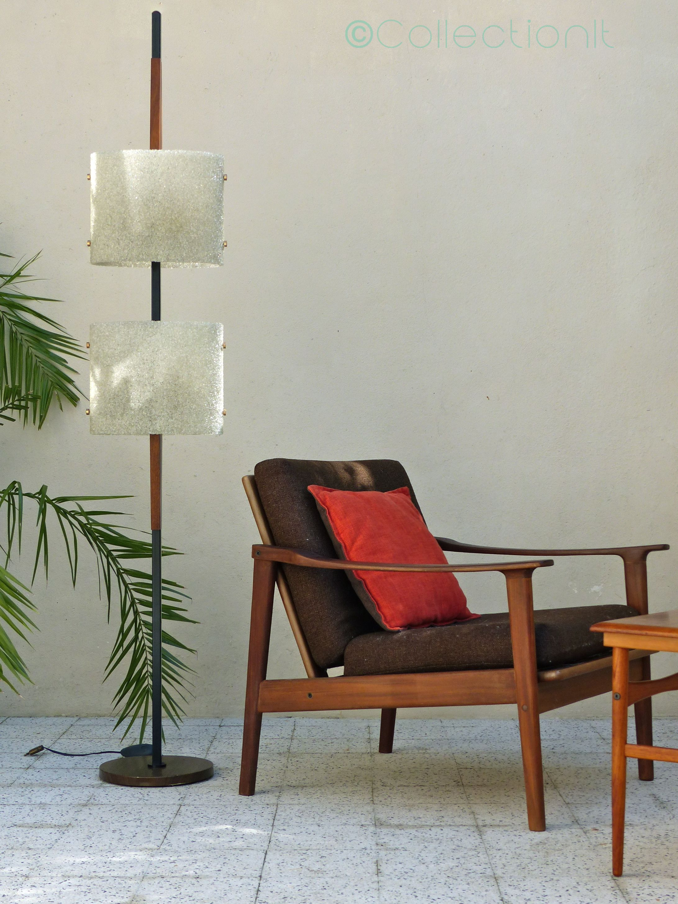 lampadaire scandinave verre acrylique vintage  3