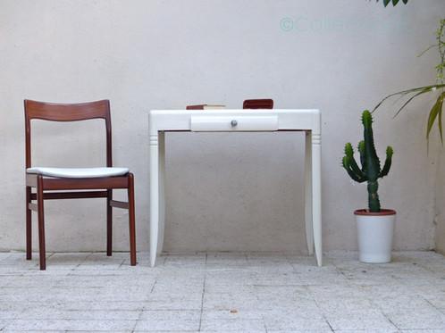 Bureau blanc vintage coiffeuse vintage