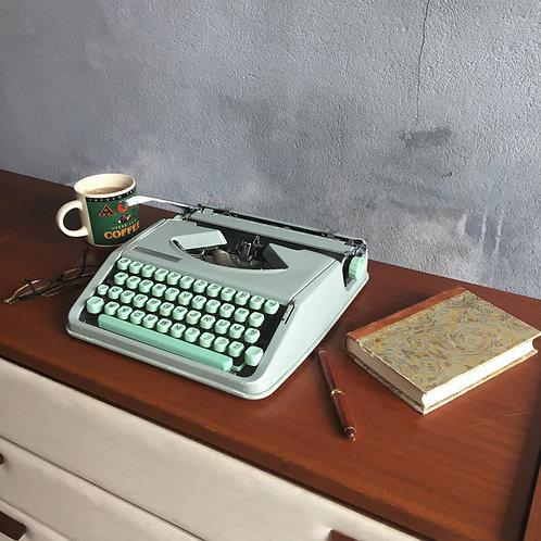 Machine à écrire Hermes Baby vert menthe -
