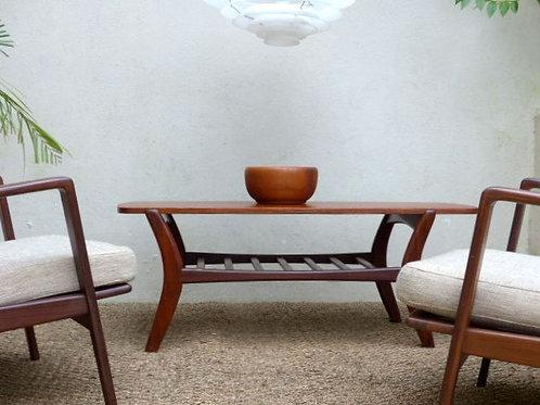 Table basse scandinave en teck vintage