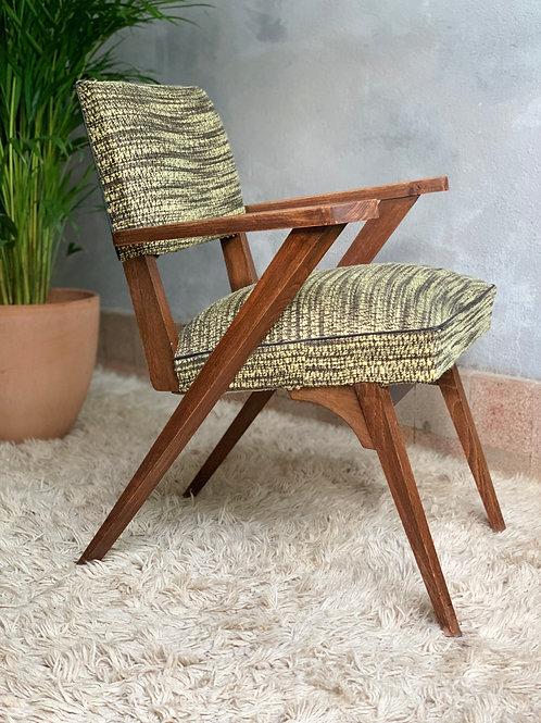 Fauteuil vintage design italien zigzag