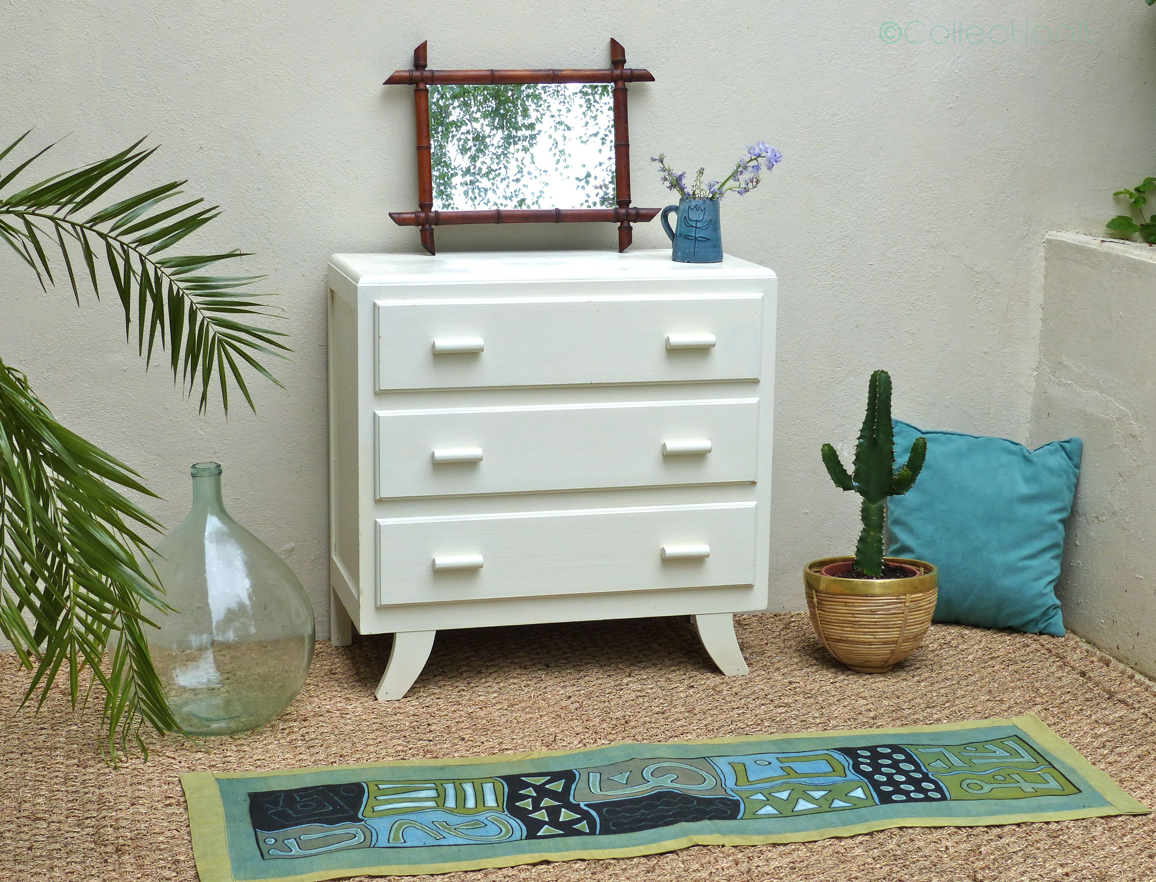 commode vintage blanche 2