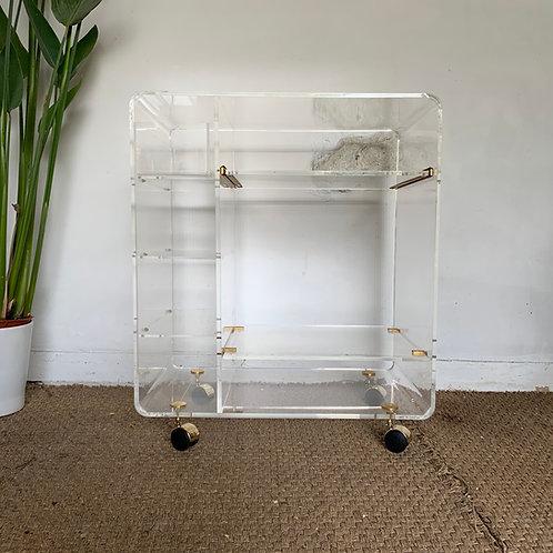 Desserte plexiglass Table porte-revue plexiglass Meuble TV Hi-fi David Lange