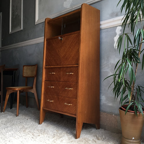 RESERVÉ - Bureau secrétaire vintage en chêne - Commode vintage