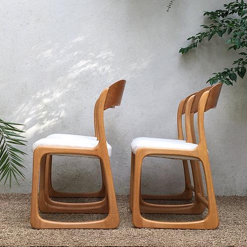 Chaises Baumann traîneau Vintage - lot de 4