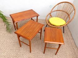table gigogne scandinave vintage Dyrlund 1
