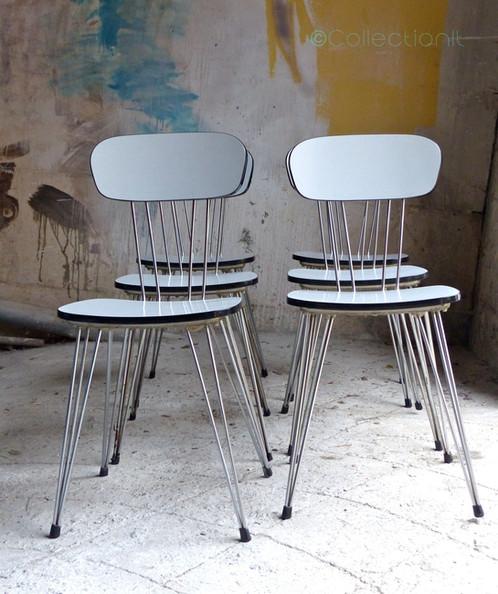 Voici Un Ensemble Table Et 6 Chaises En Formica Bleu Pastel Pitement Eiffel Le Tout Est Excellent Tat Vintage La Couleur