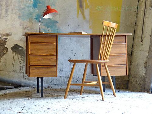 Bureau vintage en frêne et formica