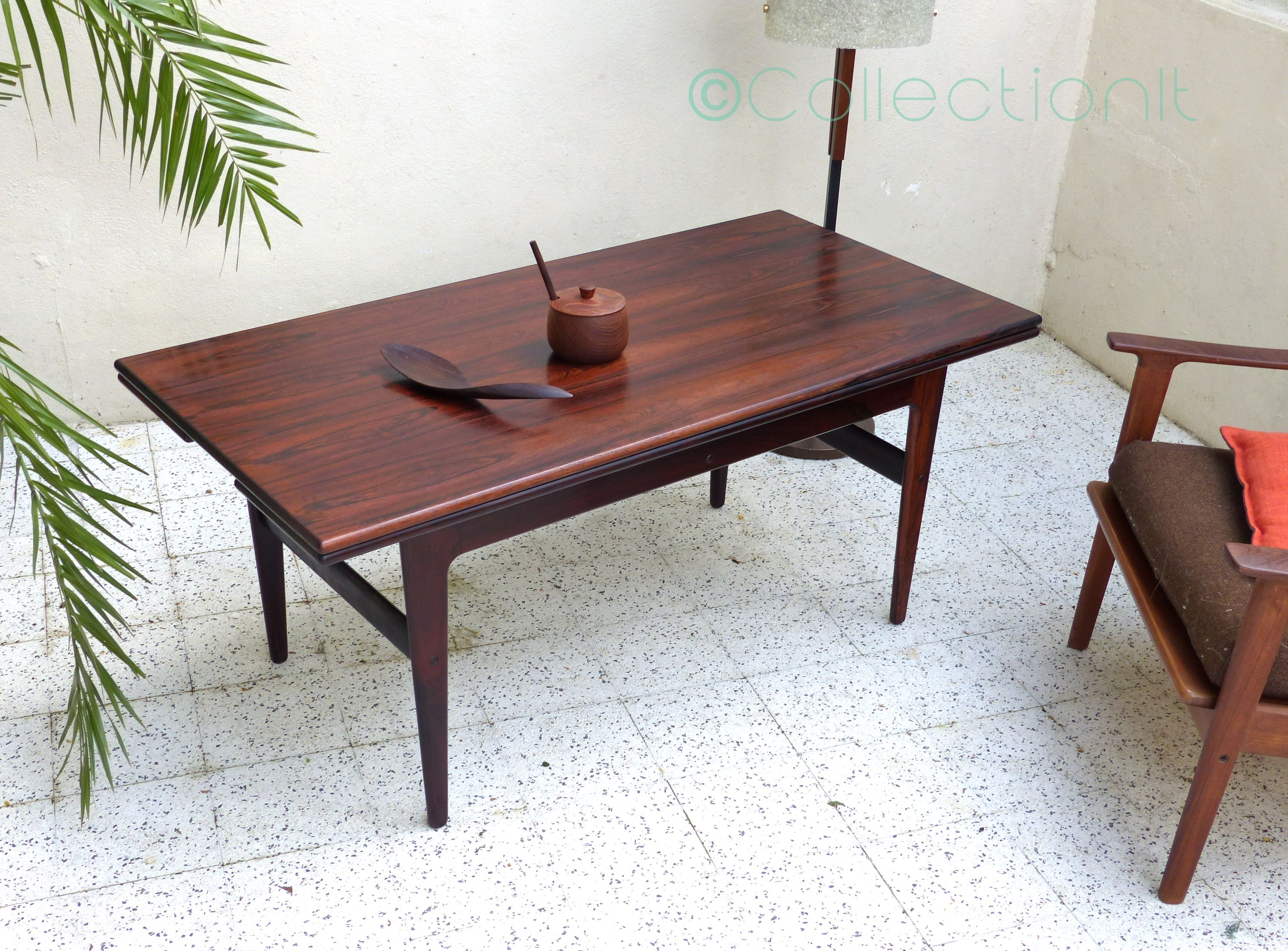 table scandinave palissandre de rio - table relevable  3