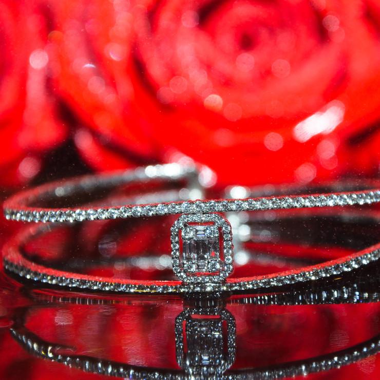 Emerald Diamond Bangle