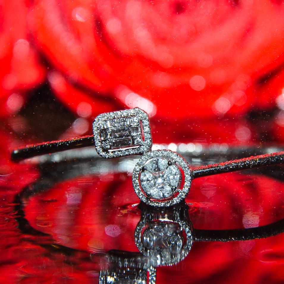 Dual Diamond Bangle