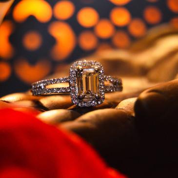Emerald Diamond Solitaire