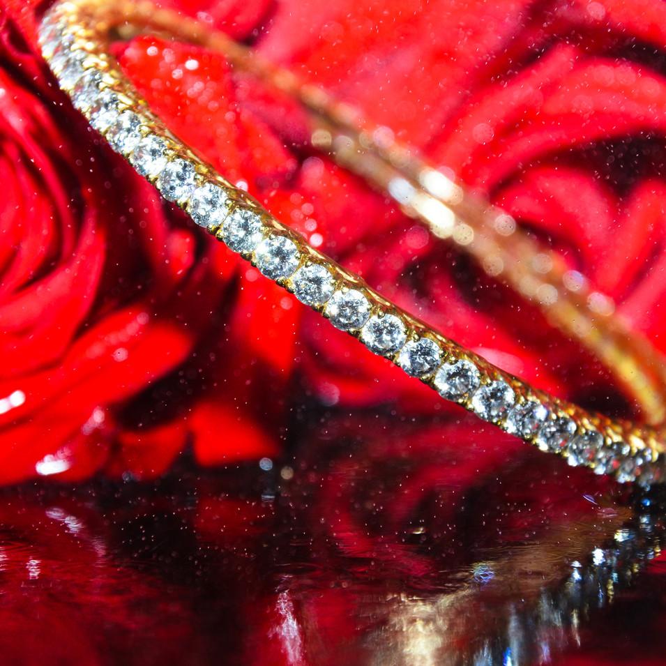 Round Diamond Bangle