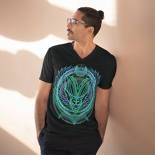 Sacred Circles by Janie on lightweight v-neck