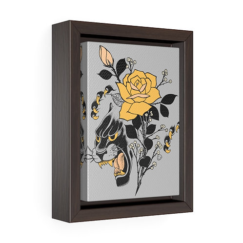Panther Rose by Tom framed premium gallery wrap canvas