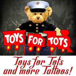 Bring in toys to get more tattoos!! Get