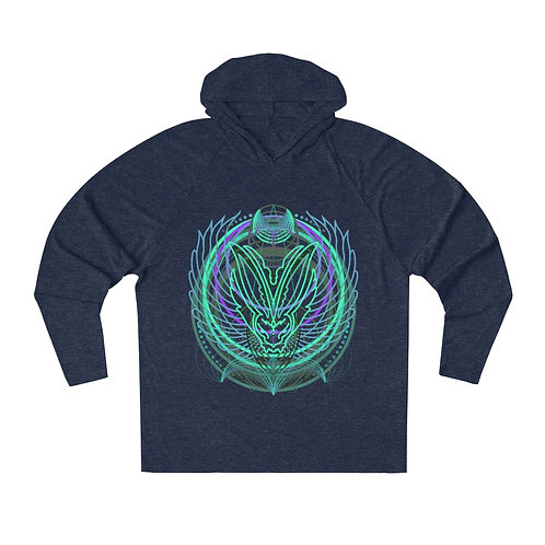 Sacred circles rabbit unisex lightweight hoodie