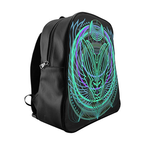 Sacred circles rabbit backpack