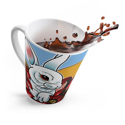 Mum Rabbit by Daemeon on Latte mug