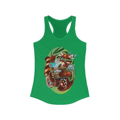 Red Panda by Cassandra on women's racerback tank