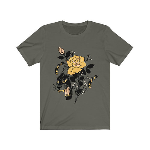 Panther Rose by Tom on comfy tee