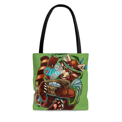 Red Panda by Cassandra on AOP Tote Bag