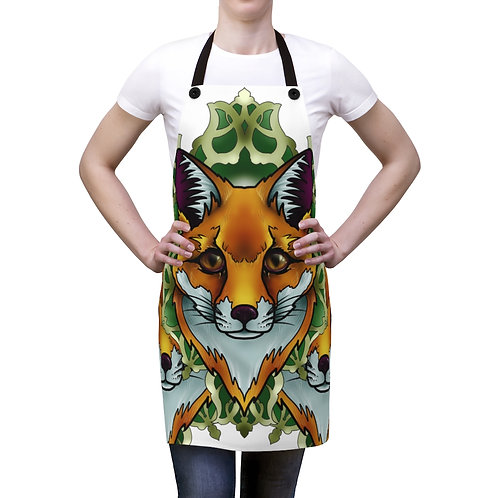 Fox mandala apron for your cooking and art projects!