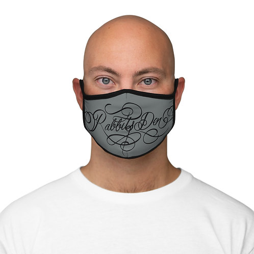 Script on Fitted Polyester Face Mask