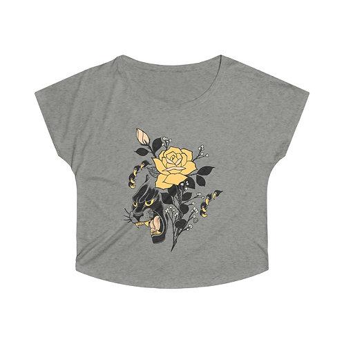 Panther Rose by Tom on tri-blend dolman