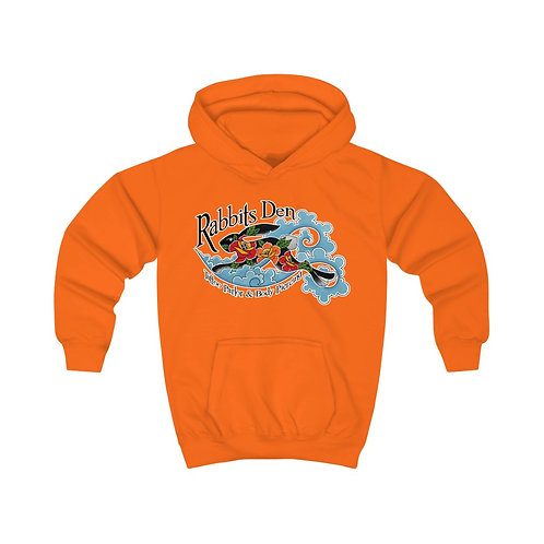 Jumping Rabbit on kids hoodie