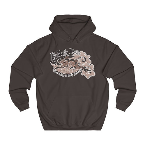 Jumping rabbit sepia on color choice unisex hoodie