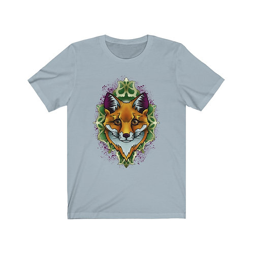 Fox mandala on color choice Unisex Jersey Short Sleeve Tee