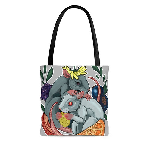 Rat Snacks by Cassandra on AOP Tote Bag