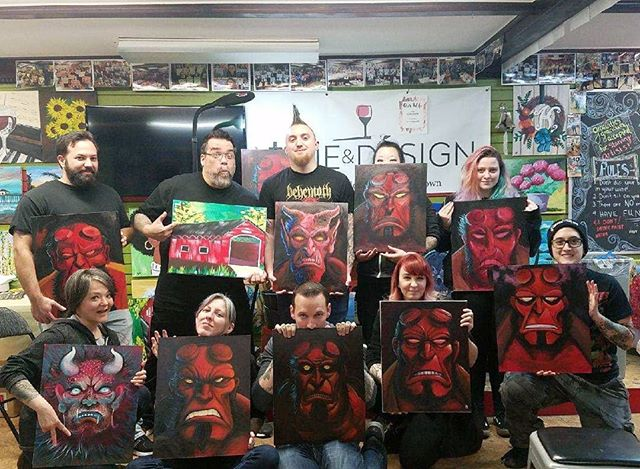 We painted Hellboy today in our kickass