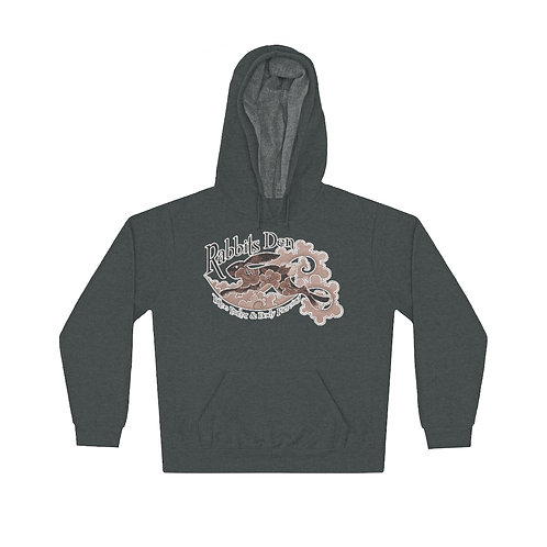 Sepia jumping rabbit on a color choice unisex lightweight hoodie