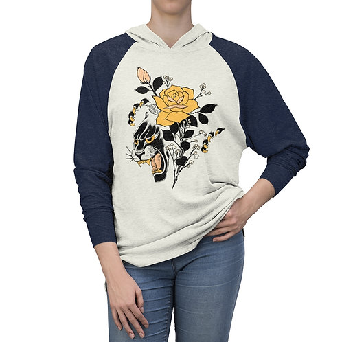 Panther Rose by Tom on comfy hooded long sleeve