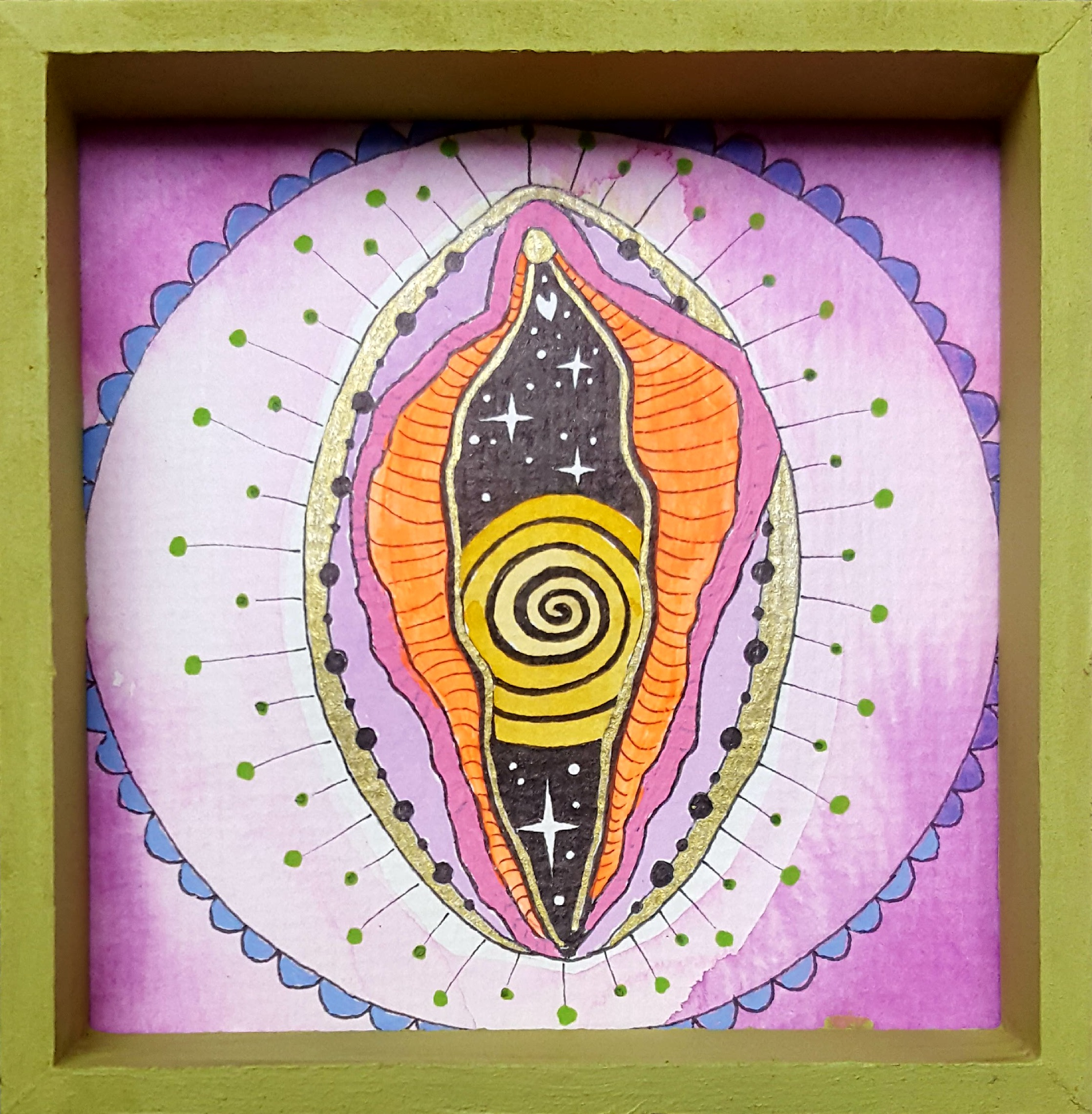 Mini Yoni Spirale 10 x 10 cm