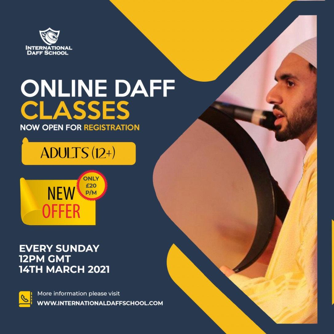 Adults Online Daff Classes