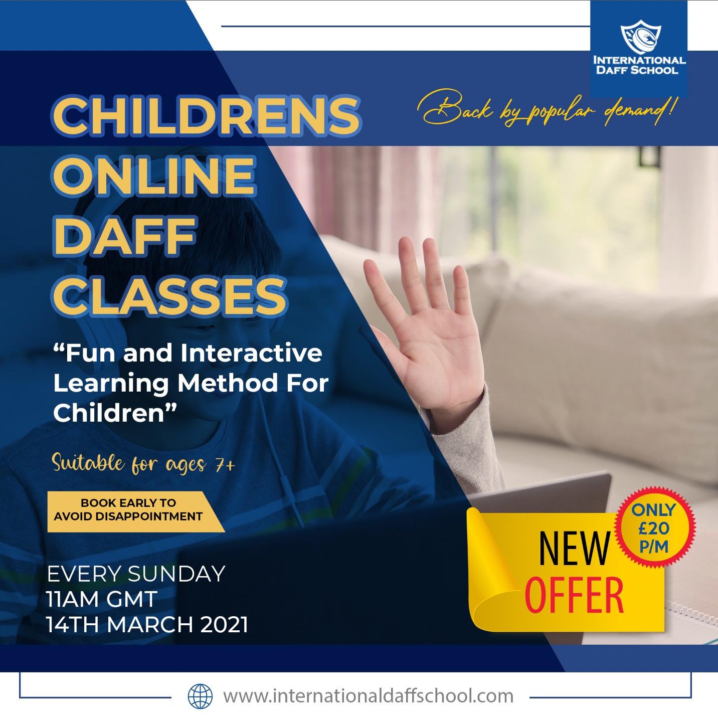 Children's Online Daff Classes