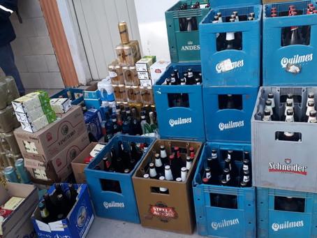 Otro domicilio fue allanado por venta ilegal de bebidas alcohólicas