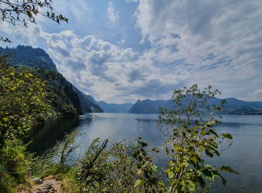 Miesweg - Wanderung über dem Ufer des Traunsees