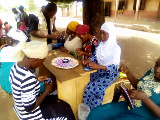 YACC Ghana and Green Drops Foundation train women on bead making